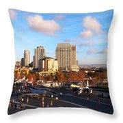 San Diego - From The U S S Midway Throw Pillow