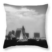 San Diego Harbor In Infrared Throw Pillow