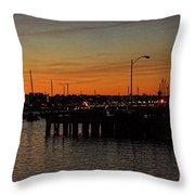 San Diego Harbor Sunset Throw Pillow