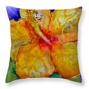 San Diego Hibiscus Study IIi Upward Facing  Throw Pillow