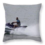 San Diego Jet Skier Throw Pillow