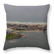 San Diego Mission Bay 3 Aerial Throw Pillow