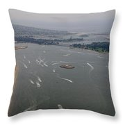 San Diego Mission Bay Aerial 4 Throw Pillow