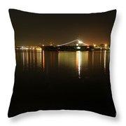 San Diego Navy Harbor Night Throw Pillow