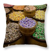 San Diego Old Town Saltwater Taffy Throw Pillow
