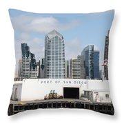 San Diego Port Throw Pillow