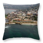 San Diego Shoreline From Above Throw Pillow