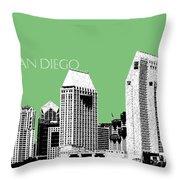 San Diego Skyline 2 - Apple Throw Pillow