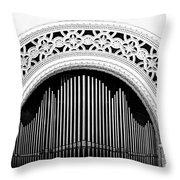 San Diego Spreckels Organ Throw Pillow