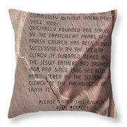 San Felipe De Neri Throw Pillow
