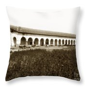 San Fernando Mission Circa 1900 Throw Pillow