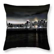 Across The Bay Version A Throw Pillow