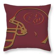 San Francisco 49ers Helmet1 Throw Pillow