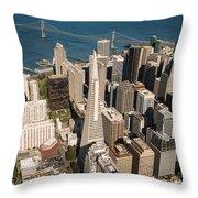San Francisco Aloft Throw Pillow