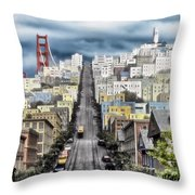 San Francisco Backlot Walt Disney World Throw Pillow