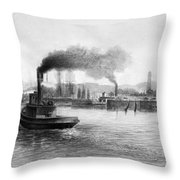 San Francisco Bay, C1889 Throw Pillow