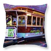 San Francisco Cable Car No. 17 Throw Pillow
