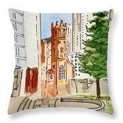 San Francisco - California Sketchbook Project Throw Pillow by Irina Sztukowski
