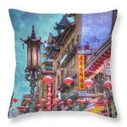 San Francisco Chinatown Throw Pillow