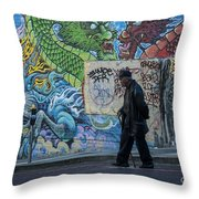 San Francisco Chinatown Street Art Throw Pillow