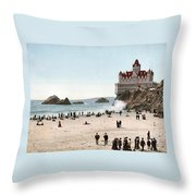 San Francisco Cliff House 1902 Throw Pillow