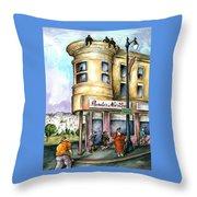 San Francisco North Beach - Watercolor Art Throw Pillow
