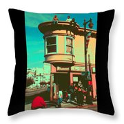 San Francisco 1968 Pop Art Throw Pillow