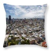 San Francisco Daytime Panoramic Throw Pillow