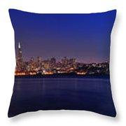 San Francisco Dusk Panorama Throw Pillow