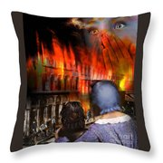 San Francisco Fire Throw Pillow