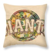 San Francisco Giants Poster Art Throw Pillow