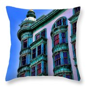 San Francisco Glow By Diana Sainz Throw Pillow