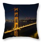 San Francisco Golden Gate Bridge At Blue Hour Throw Pillow