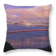 San Francisco Golden Gate Bridge At Dusk Throw Pillow