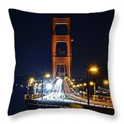 San Francisco - Golden Gate Bridge From North Vista Point Throw Pillow