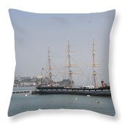 San Francisco - Hyde Street Pier - Balclutha Throw Pillow