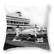 San Francisco International Airport Passenger Terminal Circa 195 Throw Pillow