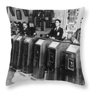 San Francisco Kinetoscope Throw Pillow