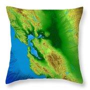 San Francisco Map Art Throw Pillow