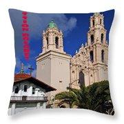 San Francisco Missio Dolores Throw Pillow