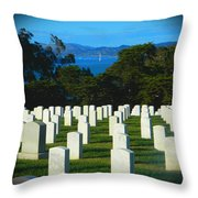 San Francisco National Cemetery In El Presidio Throw Pillow