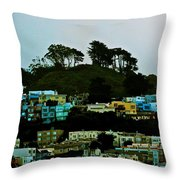 San Francisco Neighborhood Throw Pillow