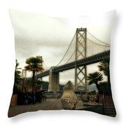 San Francisco Oakland Bay Bridge Throw Pillow