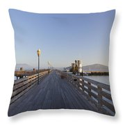 San Francisco Pier Throw Pillow