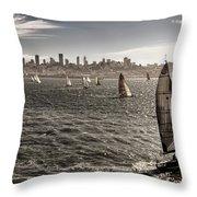 San Francisco Sails Throw Pillow