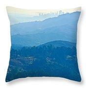 San Francisco Skyline From Mount Tamalpias-california Throw Pillow