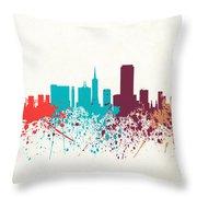 San Francisco Skyline Paint Throw Pillow
