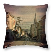 San Francisco Street Throw Pillow