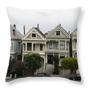 San Francisco - The Painted Ladies Throw Pillow