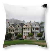 San Francisco - The Painted Ladies I Throw Pillow